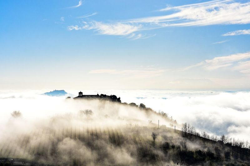 Winter Shades Of Winter Winter Fog Clouds Italy Nature Outdoors EyeEm Best Shots Church Foggy Day Landscape No People Nature Beauty In Nature