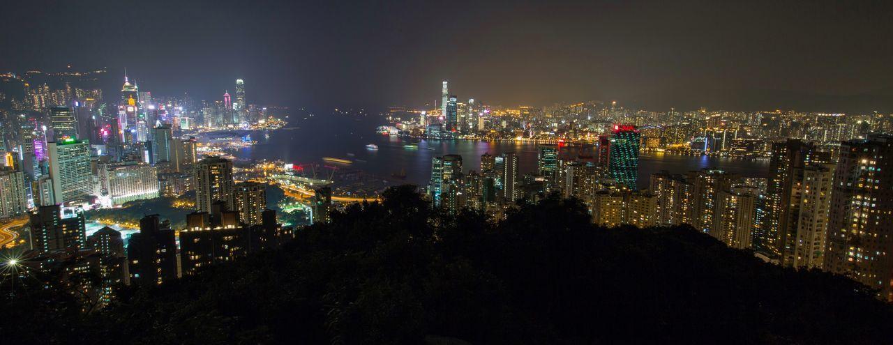 Braemar hill Braemar Illuminated Cityscape Architecture Night Skyscraper Urban Skyline Nightphotography Hiking Top View Hong Kong Architrcture