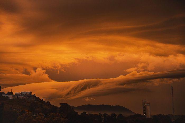 Mountain Sunset Scenics Cloud - Sky Silhouette Sky Beauty In Nature Atmosphere Dramatic Sky Orange Color Tranquil Scene Majestic Nature Tranquility Mountain Range Atmospheric Mood Cloud Travel Destinations Outdoors Storm Cloud Nikondf Aemfoto Africa