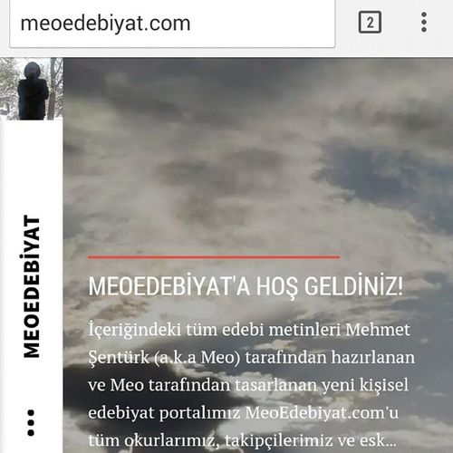 Yeni Edebiyat Blogu Meoedebiyat yayında. Günlük aforizmalar, haftalık denemeler ve film yorumları ile filmleri izlemek için mutlaka uğrayın ;)