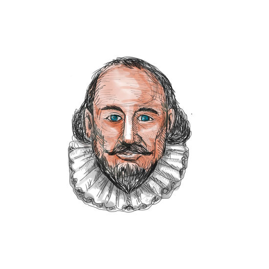 Watercolor style illustration of William Shakespeare head set on isolated white background. Drawing Human Face Ink One Person Sketch Tattoo Tattooing Traditional Tattoo White Background William Shakespeare
