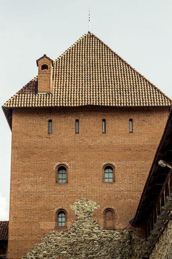 Architectural Feature Architecture Belarus Building Exterior Built Structure Castle Exterior Façade Lida No People Outdoors Roof Sky
