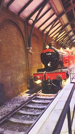 Indoors  Illuminated No People Day Steam Train Harrypotter Harrypotterstudios Train Steam Hogwarts Express 9 3/4