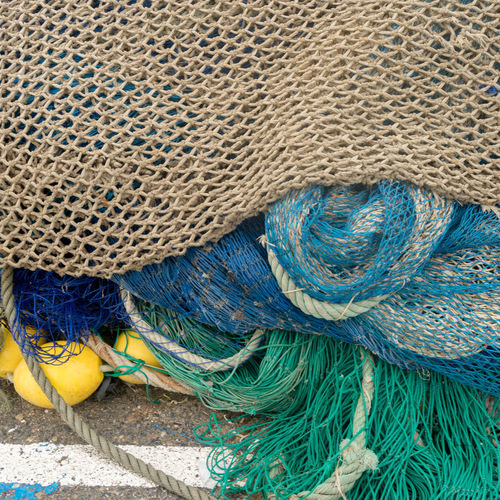 Close-up of fishing net