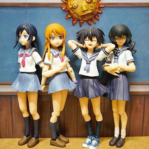 My entire Figma Collection.. 😃😃😃 believe it or not..I gave away all except for these four 😍😍😍 Tcb_whatsorceryisthis Figma Oreimo Brs Blackrockshooterova Nalaysia Petalingjaya Kualalumpur