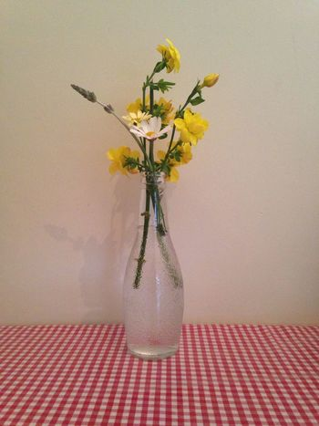 Springtime Flowers Bottle Vase