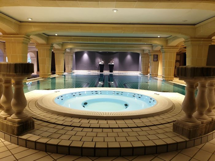 Swimming pool in building