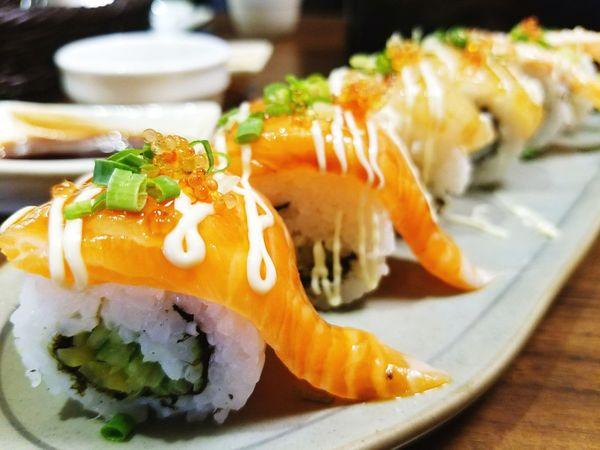 Sushi,my favorite! Seafood Food And Drink Food Plate Healthy Eating Freshness Ready-to-eat