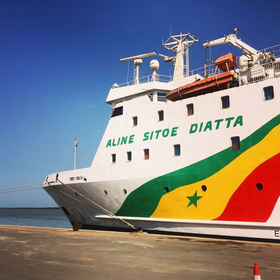 Boarding the ferry Aline Sitoe Diatta, (named after the Senegalese freedom fighter) that provides the link between Dakar and Ziguinchor in Senegal a 16 hour mini Cruise down the Casamance River and passing through the Mouth of the Gambia  river. Mobilephotography Beautiful Nature Bestoftheday West Africa Cruise Ship Voyage Colors Vibrant Contemporary Boats Angle Travelling IPhoneography Adventure Transportation Tadaa Community Popular