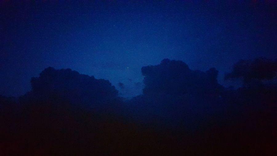 The Night sky. Sky Clouds Star Nightphotography Night Night Sky Blue Blue Sky Phoneography Mobile Photography