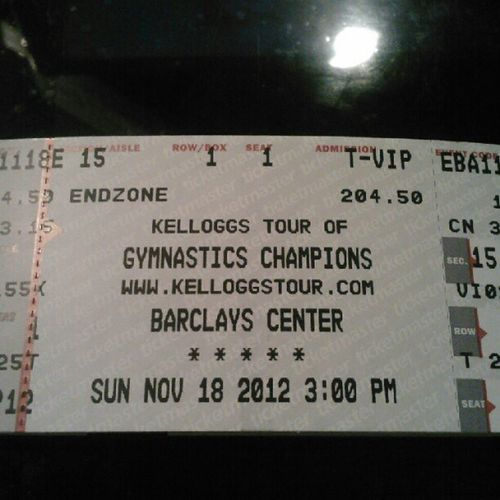 Kellogg's Tour tickets at the Barclay's Center and I get the meet the Fiercefive Kelloggstour