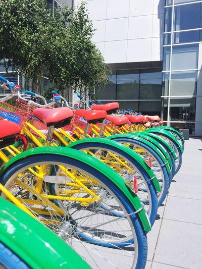 Bicycles at Google Campus Google Traveling Siliconvalley The Valley Googlephotos Google Campus