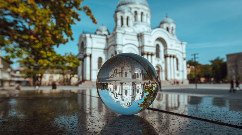 Kaunas through a glass ball Autumn Collection Crystal Ball Glass Ball Lietuva Reflection Architecture Building Exterior Built Structure City Spaces Close-up Crystal Clear Day Europe Outdoors Reflection Religion Sky Soboras Spirituality Tree Upside Town Water