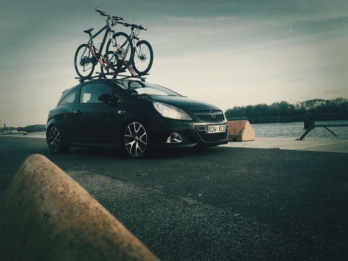 Transportation Car Mode Of Transport Land Vehicle Day Stationary No People Outdoors Sky Nature Opel Corsa D OPC Hamburg