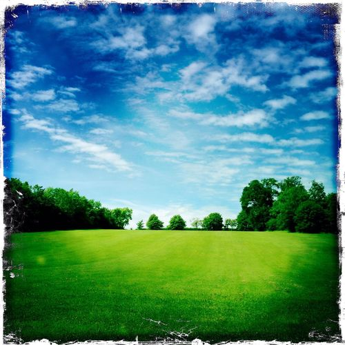 Summertime Sunny Day Countryside Country Living Blue Sky Saturated Colours Landscape_photography Landscape Green Fields