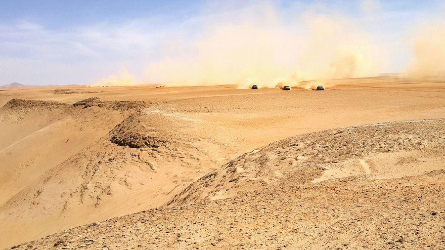 Off Road Vehicles In Desert