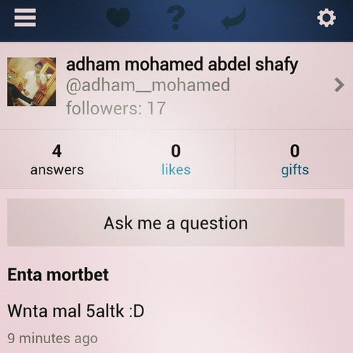 U can ask me on Aşk .fm just for fun Askme Ask Me