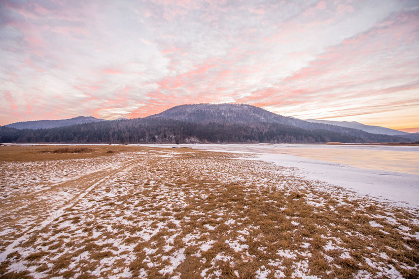 Cerknica lake in all its winter glory. Cloudscape Ice Out Of This World Slovenia Tranquility Winter Winterscapes Cerknica Cerknicalake Cold Lake Slovenija Snow Water Winterwonderland
