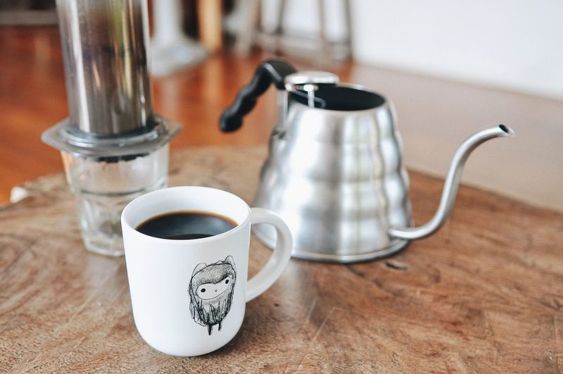 Photography Hotcoffee Morning Still Life Food And Drink Cup Indoors  Mug Drink No People Table Coffee Refreshment Coffee Cup Coffee - Drink Container Close-up Focus On Foreground Handle High Angle View Kitchen Utensil Jar Household Equipment