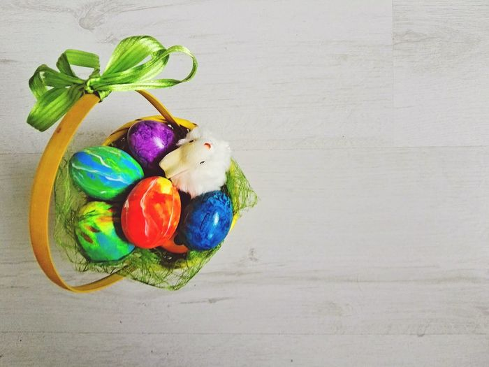 Happy Easter Multi Colored Easter Indoors  Easter Egg Table No People Variation Celebration Close-up Studio Shot Gray Background Food Happy Easter Happy Easter Everyone Frohe Ostern Easter Basket  Easter Background Easter Wallpaper Easter Cart