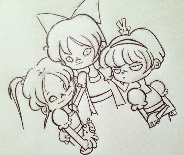 Cute Anime Doodle Cartoon Art Fanart Work In Progress Sketch Powerpuffgirls