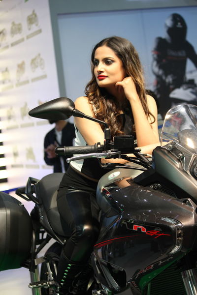 Bike girls Autoexpo2016 Bike Bikegirl Black Cruisebike India Portrait Young Women
