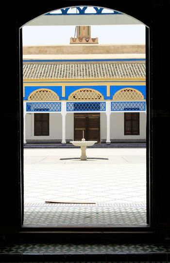 Arch Architectural Column Architectural Feature Architecture Building Built Structure Closed Column Day Empty Entrance No People Open Sky Bahia Palace Marrakesh Morocco Palace Houses 19th Century