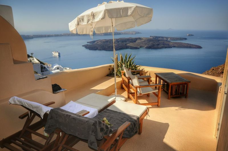 Morning Light Sunny Day Balcony View View From The Top Urban Landscape Urban Geometry Landscape_Collection Enjoying Life Lifeisbeautiful Beautiful Landscape Enjoying Life Taking Photos Vacations Showcase April - Greek Islands Santorini Thira Greece