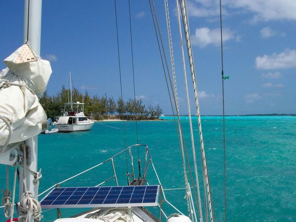 Solar Panel Sailing Sailboat Blue Tropical Island Tropical Waters Sailing Travel Destinations Holiday POV Sailing Bahamas Tropical Paradise Tropical Island Capturing Freedom Boatlife Carribean Tropics On Deck Solar Panel Solar Equipment Solar Energy Green Living Sailboat Sail Boat Transportation Water Nautical Vessel No People Outdoors Mode Of Transport
