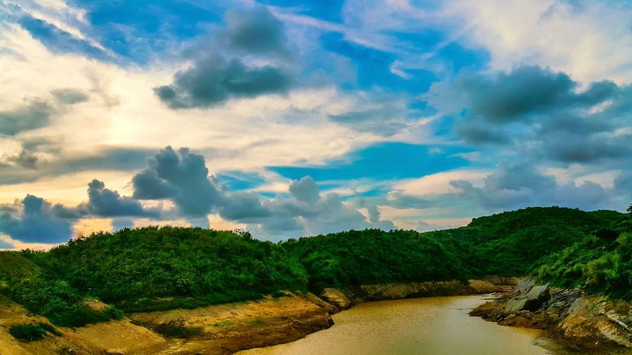 Landscape of my workplace - The natural water reservior! The Following EyeEm Best Shots - Nature Landscape Lake Hills Water Sky Clouds And Sky Cloud Beauty In Nature Beautiful Nature EyeEm Gallery Eye4photography  Outdoors Nature Bangladesh