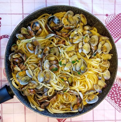 Food Indoors  Freshness Directly Above Italian Food Healthy Eating Ready-to-eat No People Close-up Linguine Linguine Alle Vongole Clam Clams Pasta With Clams Food Porn Italian Pasta Top Chef