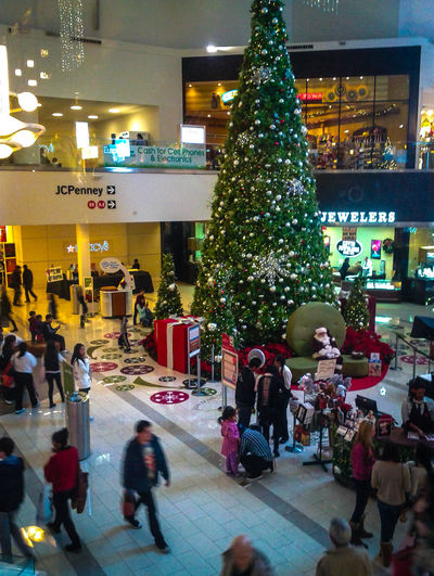 Christmas Christmas Tree Jcpenney Mall People People Watching Public Places Shopping Mall