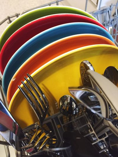 Dishes Dishwasher Dishwashing Clean Plate Color Colors Colorful Rainbow Rainbow Colors