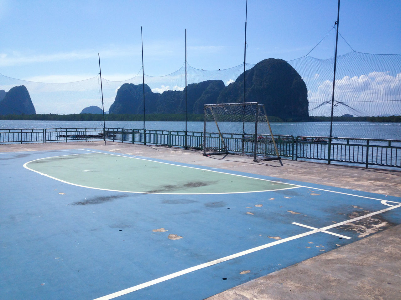 Soccer Field By River
