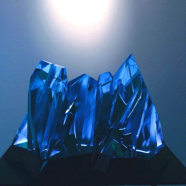 sculpture of a simple yet elegant detail. Artfair Artfairphilippines Art Blue Sculpture SecondPhoto Photooftheday Love Light Blues
