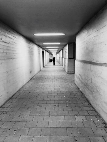 Black And White Friday The Way Forward Real People One Person Architecture Built Structure Walking Full Length