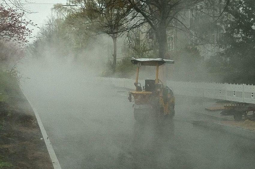 Tar Fog After The Rain Tar Fog Foggy Construction Site Spooky Mood Moody Jopesfotos - Urban