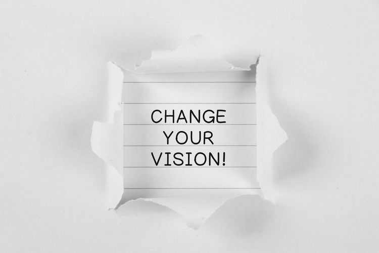 Change Your Vision Close-up Communication Day Indoors  No People Text Vision Western Script White Background Your Visio
