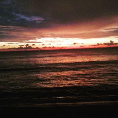 Sunset in carita beach