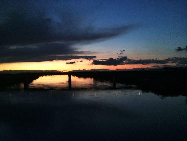 川二つ目 IPhoneography Train Clouds And Sky