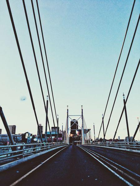 Mandelabridge Johannesburg Leading Lines Bridge City Fresh Cool Atmosphere Crossing The Bridge Road To Work