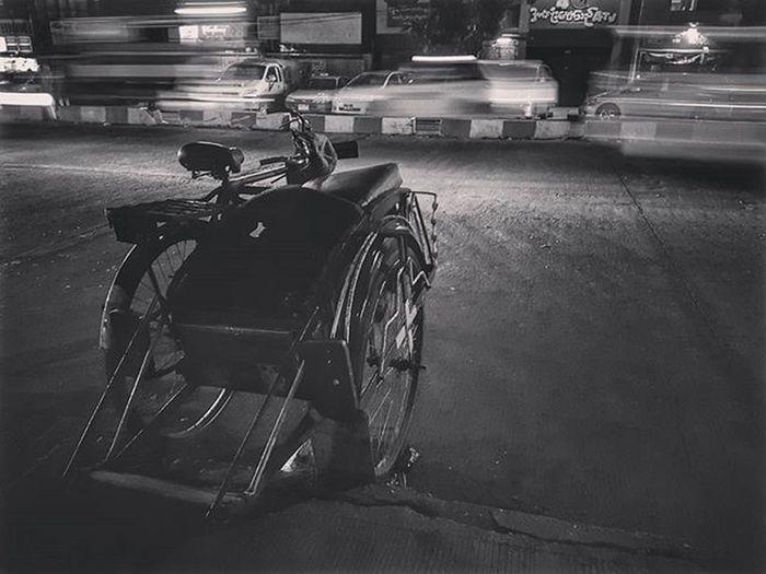 Trishaw on the road (Testing pro mode on Samsung s7 edge) Trishaw Burmesetrishaw Mobilephotography Mobilephoto Myanmar Burma Yangon Rangoon Igersmyanmar Instagood AOV Artofvisuals Samsungphoto Snapseed Yourworldgallery Travelgood Choose2create Vacationinstyle Tricycle Blackandwhite Blacknwhite Bnw