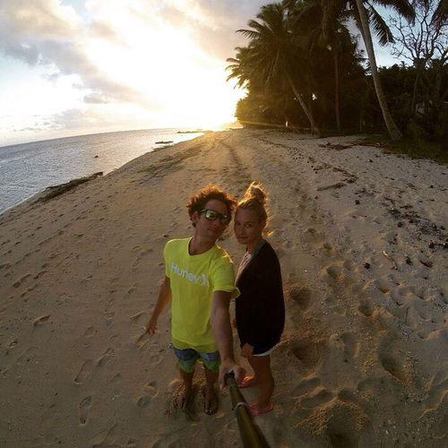 Couple Boyfriend Beautiful Beach Gopro Sunset Wanderlust Landscape Summer Fiji