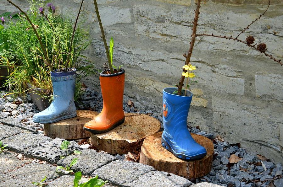 Garden Stiefel Gummistiefel  Sommerfeeling Gardenart Garten Gartendekoratin Rubber Boots Colorful Farbenfroh Blumentopf Colour Of Life Summer Exploratorium