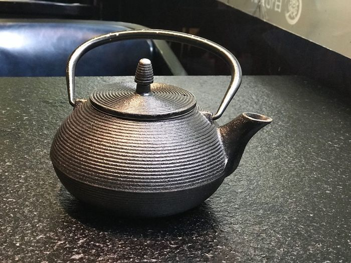 pot Teapot Metal Still Life Indoors  Table No People Food And Drink