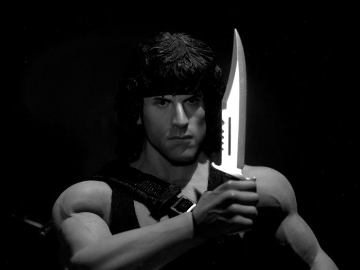 Rambo Stallone Toys Black And White Black And White Photography Blackandwhite Blackandwhite Photography Hot Toys Monochrome Toy Toy Photography Toyphotography