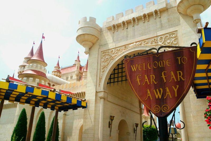 Welcome to Far Far Away 👑🏰 Far Far Away Shrek Universal Studio Singapore Magical Place Travel Wanderlust Singapore