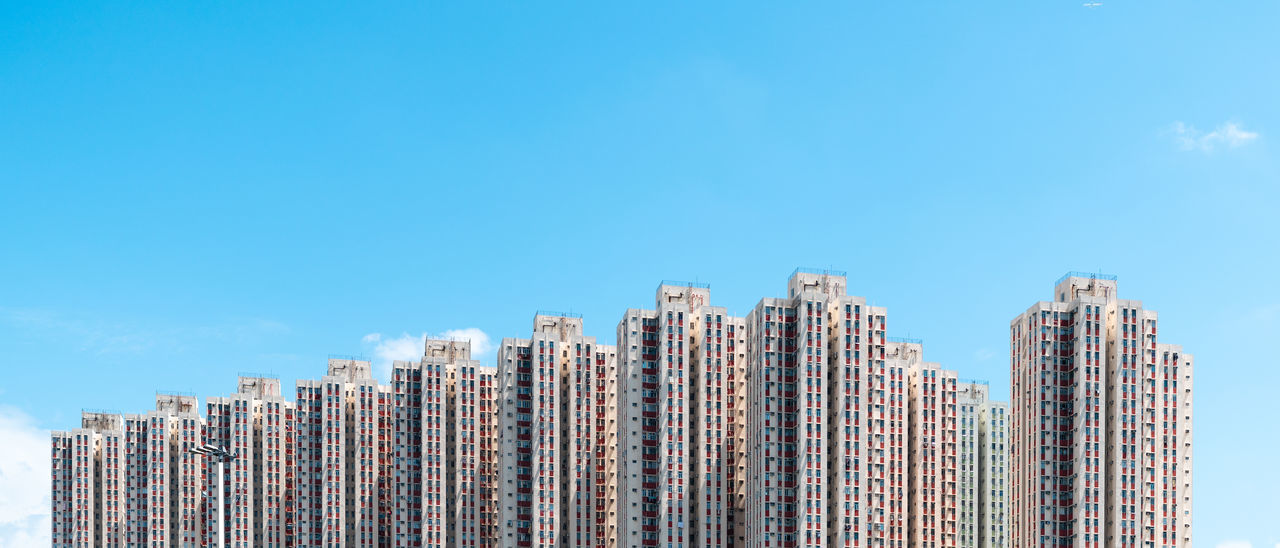 Hong Kong built structure Apartment Architecture Building Exterior Built Structure City Copy Space Hongkongphotography Low Angle View Modern No People Office Building Exterior Sky