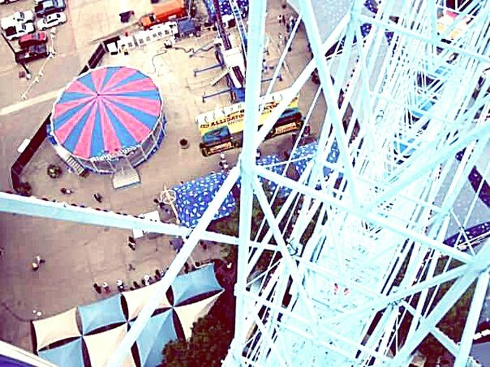 State Fair Of Texas Ferris Wheel View Birdseye View Amusement Park Ride,