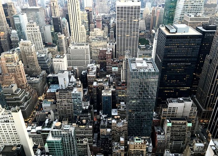 High angle view of manhattan